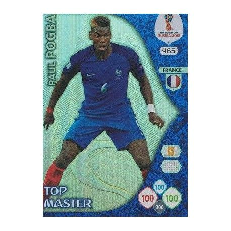 Paul Pogba Top Masters 465 Adrenalyn XL World Cup 2018
