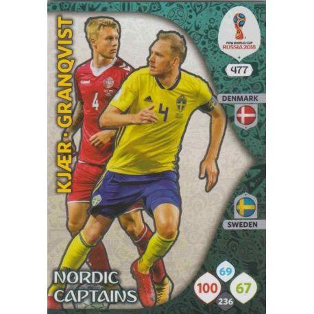 Simon Kjær / Andreas Granqvist Scandinavian Stars 477 Adrenalyn XL Russia 2018