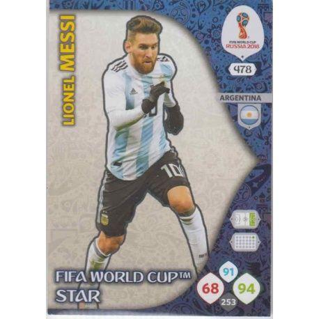 Lionel Messi Fifa World Cup Stars 478 Adrenalyn XL Russia 2018