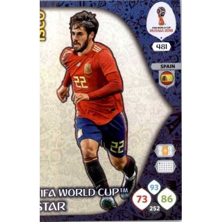 Isco Fifa World Cup Stars 481 Adrenalyn XL Russia 2018