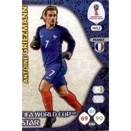 Antoine Griezmann Fifa World Cup Stars 482 Adrenalyn XL Russia 2018