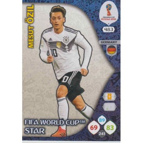 Mesut Özil Fifa World Cup Stars 483 Adrenalyn XL World Cup 2018