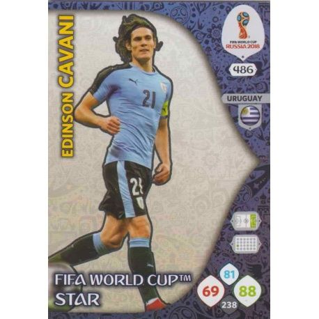 Edinson Cavani Fifa World Cup Stars 486 Adrenalyn XL Russia 2018