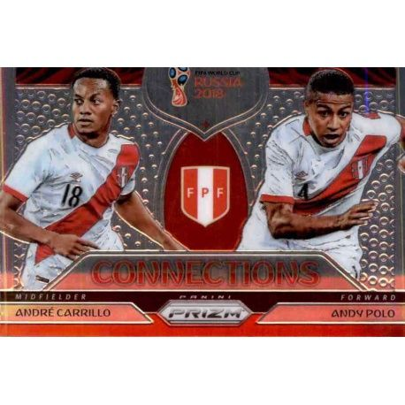 Andre Carrillo - Andy Polo Connections 15 Prizm World Cup 2018