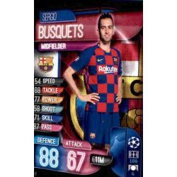 Sergio Busquets Barcelona BAR 6 Match Attax Champions 2019-20