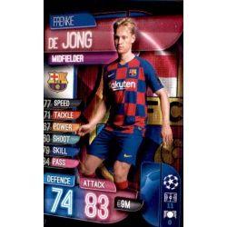 Frenkie de Jong Barcelona BAR 7 Match Attax Champions 2019-20