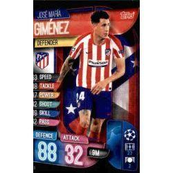 José María Giménez Atlético Madrid ATL 6 Match Attax Champions 2019-20