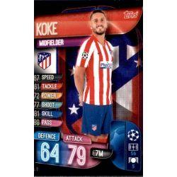 Koke Atlético Madrid ATL 8 Match Attax Champions 2019-20