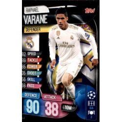Raphael Varane Real Madrid REA 4 Match Attax Champions 2019-20