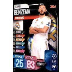 Karim Benzema Real Madrid REA 14 Match Attax Champions 2019-20