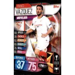 Franco Vázquez Sevilla SEV 7 Match Attax Champions 2019-20