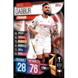 Munas Dabbur Sevilla SEV 10 Match Attax Champions 2019-20