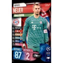 Manuel Neuer Bayern Munich BAY 2 Match Attax Champions 2019-20