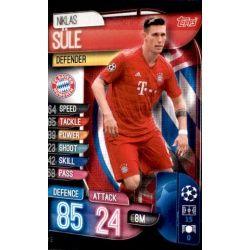 Niklas Süle Bayern Munich BAY 3 Match Attax Champions 2019-20