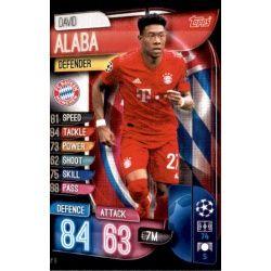 David Alaba Bayern Munich BAY 6 Match Attax Champions 2019-20