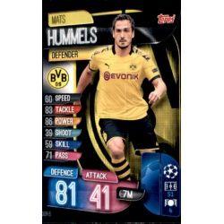 Mats Hummels Borussia Dortmund DOR 6 Match Attax Champions 2019-20