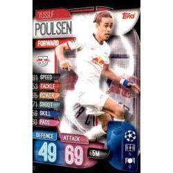 Yussuf Poulsen RB Leipzig LEI 12 Match Attax Champions 2019-20