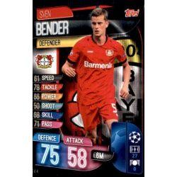 Sven Bender Bayer Leverkusen LEV 4 Match Attax Champions 2019-20