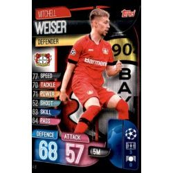 Mitchell Weiser Bayer Leverkusen LEV 6 Match Attax Champions 2019-20