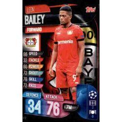 Leon Bailey Bayer Leverkusen LEV 12 Match Attax Champions 2019-20