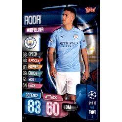 Rodri Manchester City MCY 6 Match Attax Champions 2019-20