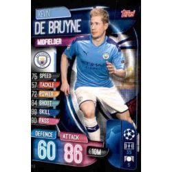 Kevin De Bruyne Manchester City MCY 9 Match Attax Champions 2019-20