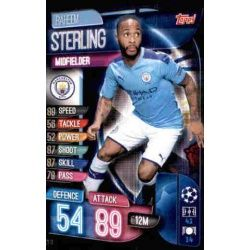 Raheem Sterling Manchester City MCY 11 Match Attax Champions 2019-20