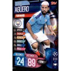 Sergio Agüero Manchester City MCY 12 Match Attax Champions 2019-20