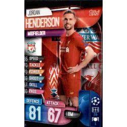 Jordan Henderson Liverpool LIV 8 Match Attax Champions 2019-20