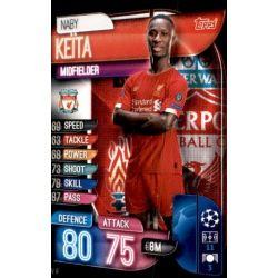 Naby Keita Liverpool LIV 9 Match Attax Champions 2019-20