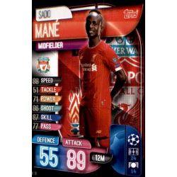 Sadio Mané Liverpool LIV 10 Match Attax Champions 2019-20
