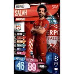 Mohamed Salah Liverpool LIV 12 Match Attax Champions 2019-20