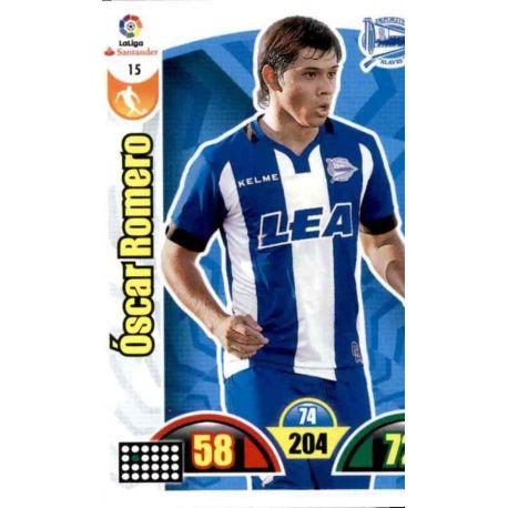 Óscar Romero Alavés 15 Cards Básicas 2017-18