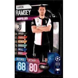 Aaron Ramsey Juventus JUV 8 Match Attax Champions 2019-20