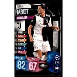 Adrien Rabiot Juventus JUV 9 Match Attax Champions 2019-20