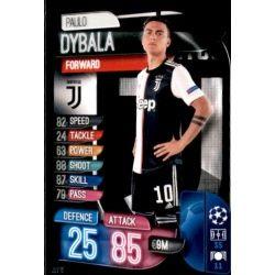 Paulo Dybala Juventus JUV 10 Match Attax Champions 2019-20