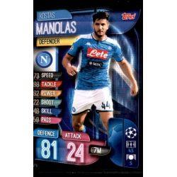 Kostas Manolas SSC Napoli NAP 5 Match Attax Champions 2019-20