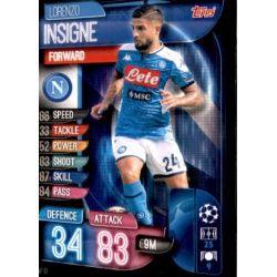 Lorenzo Insigne SSC Napoli NAP 10 Match Attax Champions 2019-20