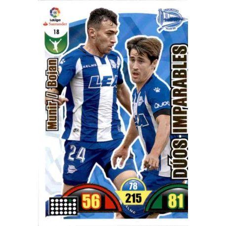 Munir / Bojan Alavés 18 Cards Básicas 2017-18