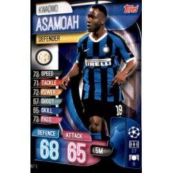 Kwadwo Asamoah Inter Milán INT 5 Match Attax Champions 2019-20