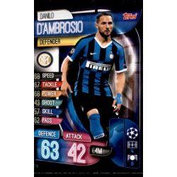 Danilo D'Ambrosio Inter Milán INT 6 Match Attax Champions 2019-20