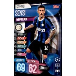 Stefano Sensi Inter Milán INT 10 Match Attax Champions 2019-20