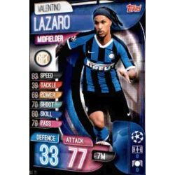 Valentino Lazaro Inter Milán INT 11 Match Attax Champions 2019-20