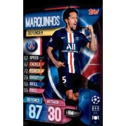 Marquinhos Paris Saint-Germain PSG 3 Match Attax Champions 2019-20