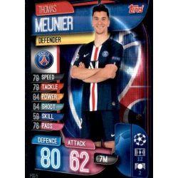 Thomas Meunier Paris Saint-Germain PSG 5 Match Attax Champions 2019-20