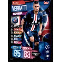 Marco Verratti Paris Saint-Germain PSG 7 Match Attax Champions 2019-20