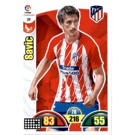 Savic Atlético Madrid 39 Cards Básicas 2017-18