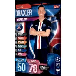 Julian Draxler Paris Saint-Germain PSG 8 Match Attax Champions 2019-20