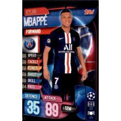 Kylian Mbappé Paris Saint-Germain PSG 10 Match Attax Champions 2019-20