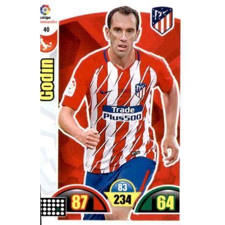 Godín Atlético Madrid 40 Cards Básicas 2017-18